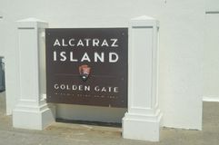 Welcome to Alcatraz. We visited This Great Island-Prison. Travel Holidays Architecture. June 30, 2017. San Francisco. California EEUU USA royalty free stock image