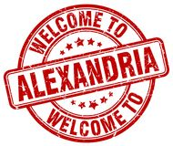 Welcome to Alexandria stamp. Welcome to Alexandria round grunge stamp isolated on white background. Alexandria. welcome to Alexandria