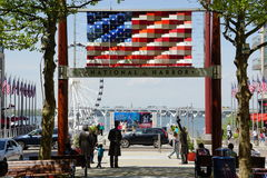 Welcome to the American Way at National Harbor Royalty Free Stock Image