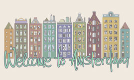 Welcome to Amsterdam Royalty Free Stock Photos