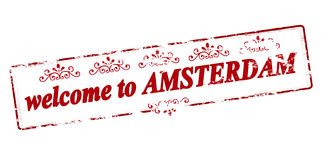 Welcome to Amsterdam Royalty Free Stock Photo