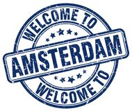Welcome to Amsterdam stamp. Welcome to Amsterdam round grunge stamp isolated on white background. Amsterdam. welcome to Amsterdam