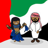 Welcome to Arab Emirates people Stock Photography