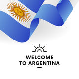 Welcome to Argentina. Argentina flag. Patriotic design. Vector. Royalty Free Stock Image