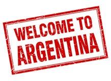 Welcome to Argentina stamp. Welcome to Argentina square grunge stamp Stock Image