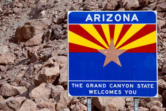 Welcome to Arizona royalty free stock photography