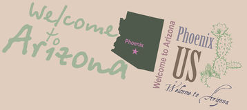 Welcome to Arizona Banner Stock Photo