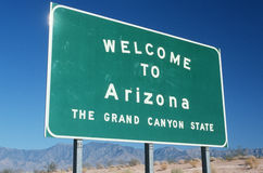 Welcome to Arizona Sign Royalty Free Stock Image
