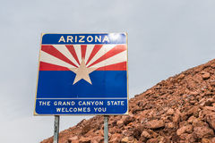 Welcome to Arizona sign Royalty Free Stock Photo