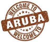 Welcome to Aruba stamp. Welcome to Aruba round grunge stamp  on white background Royalty Free Stock Photography