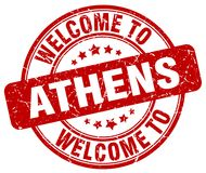 Welcome to Athens stamp. Welcome to Athens round grunge stamp isolated on white background. Athens. welcome to Athens