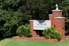 Welcome to Auburn Royalty Free Stock Photo