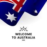 Welcome to Australia. Australia flag. Patriotic design. Vector. Welcome to Australia. Australia flag. Patriotic design. Vector illustration Royalty Free Stock Photography