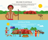 Welcome To Australia Banners Stock Photos