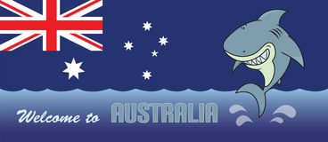 Welcome to Australia card illustration Royalty Free Stock Image