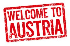 Welcome to Austria Royalty Free Stock Images