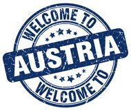 Welcome to Austria stamp. Welcome to Austria round grunge stamp isolated on white background. Austria. welcome to Austria