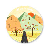 Welcome to autumn icon Royalty Free Stock Images