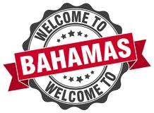 Welcome to Bahamas seal royalty free illustration