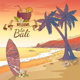 Welcome To Bali Background Royalty Free Stock Photo