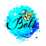 Welcome to Bali concept in vintage graphic style Stock Photo