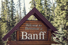 Welcome to Banff National Park Royalty Free Stock Images