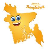 Welcome to Bangladesh happy face map. Illustration vector illustration