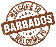 Welcome to Barbados stamp. Welcome to Barbados round grunge stamp isolated on white background. Barbados. welcome to Barbados
