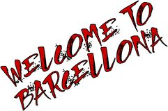Welcome to Barcellona text sign illustration Royalty Free Stock Photography