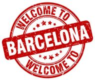 Welcome to Barcelona stamp. Welcome to Barcelona round grunge stamp isolated on white background. Barcelona. welcome to Barcelona