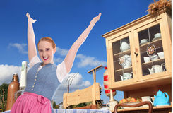Welcome to Bavaria - happy young woman Stock Photography