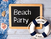 Welcome to beach party  Royalty Free Stock Photos