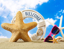 Welcome to the beach Stock Photography