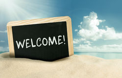 Welcome to the beach Royalty Free Stock Photo