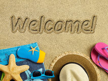 Welcome to the beach Royalty Free Stock Image