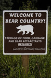 Welcome to Bear Country Sign Royalty Free Stock Photos