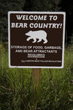 Welcome to Bear Country Sign Stock Photos