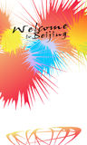 Welcome to Beijing. On August 8, Beijing has set off Olympic Games fireworks  . Vector-Illustration Royalty Free Stock Photography