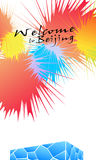 Welcome to Beijing. On August 8, Beijing has set off Olympic Games fireworks  . Vector-Illustration Stock Image
