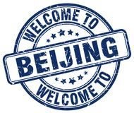 Welcome to Beijing stamp. Welcome to Beijing round grunge stamp isolated on white background. Beijing. welcome to Beijing