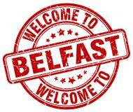 Welcome to Belfast stamp. Welcome to Belfast round grunge stamp isolated on white background. Belfast. welcome to Belfast