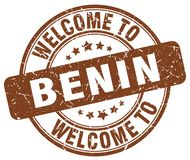 Welcome to Benin stamp. Welcome to Benin round grunge stamp isolated on white background. Benin. welcome to Benin