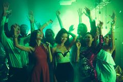 Welcome to the best night party Sequins fall on careless, caref royalty free stock photos