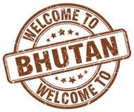 Welcome to Bhutan stamp. Welcome to Bhutan round grunge stamp isolated on white background. Bhutan. welcome to Bhutan
