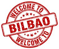 Welcome to Bilbao stamp. Welcome to Bilbao round grunge stamp isolated on white background. Bilbao. welcome to Bilbao
