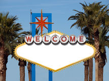 Welcome to Blank. Blank Welcome to Las Vegas Historic Road Sign Stock Photo