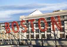 Welcome to Boston. The welcome sign to Boston (Massachusetts Stock Image