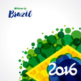 2016 welcome to Brazil background Stock Image