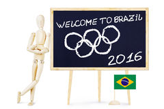 Welcome to Brazil. Concept of Olympics Stock Photos