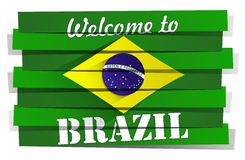 Welcome To Brazil royalty free stock photos